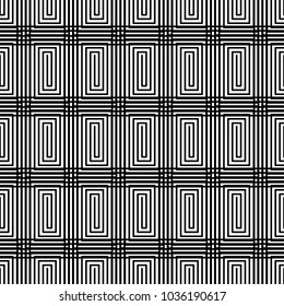 Abstract geometric art woven pattern. Can be used for wallpaper, pattern fills, textile, web page background, surface textures, Image for advertising booklets, banners.
