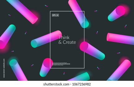 Abstract geometric background. 3d gradient shapes composition. Eps10 vector.