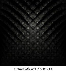 Abstract geometric background. Black and white. Vector Illustration