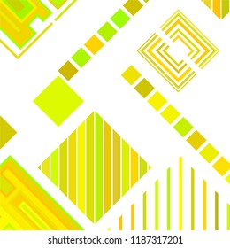 abstract geometric background with abstract colored rhombuses and lines, vector