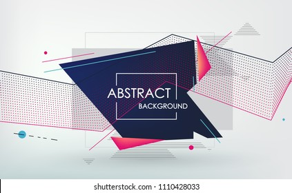 Abstract geometric background, combination of different geometric shapes