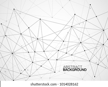 Abstract geometric background with connecting dots and lines. Modern technology concept. Polygonal structure