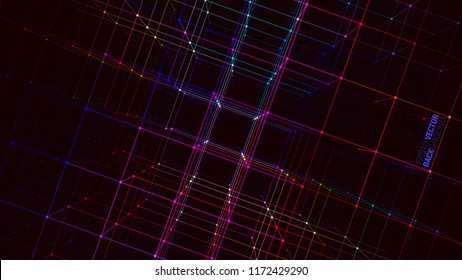 Abstract geometric background with connecting dots and lines.