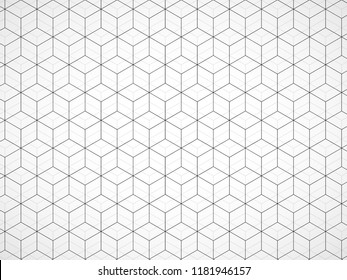 Abstract geometric background with cubes. Geometrical concept with lines. Vector illustration. Eps 10