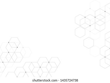 Abstract geometric background with cubes.Modern technology Polygonal structure.abstraction with lines and points.Vector illustration. Eps 10.