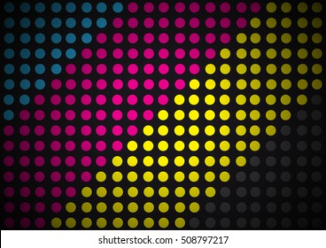 Abstract geometric background, dots and circle shapes design. Test print concept