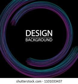 Abstract geometric background with dynamic circles. Creative line art. Design elements created using the Blend Tool.