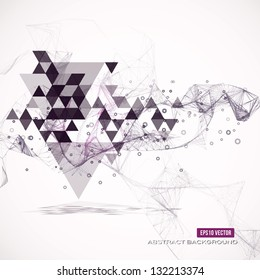 Abstract geometric background. Eps10 Vector illustration