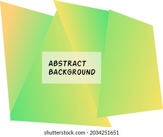 Abstract geometric background grenn gradient color with space for text for your design, presentation, banner,flyer,slide show vector illustration