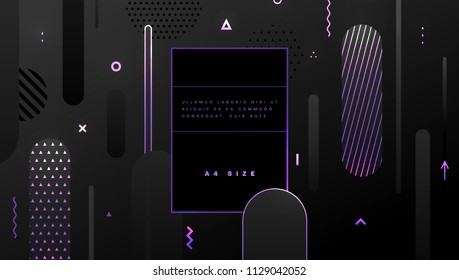 Abstract geometric background with neon color patterns. Eps10 vector illustration