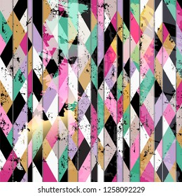 abstract geometric background pattern, with lines, strokes and splashes, grungy