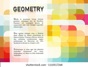 Abstract geometric background with place for text