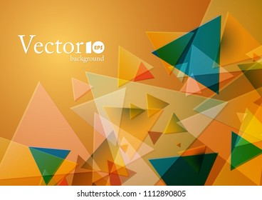 Abstract geometric background with place for text in orange and yellow