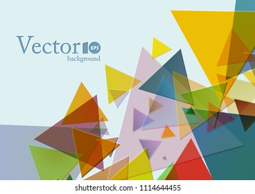 Abstract geometric background with place for text in blue and yellow color