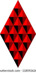 Abstract geometric background of rhombuses and triangles in red tones