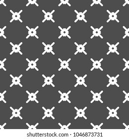 Abstract geometric background. Seamless x-shaped mesh pattern. Vector black and white texture.