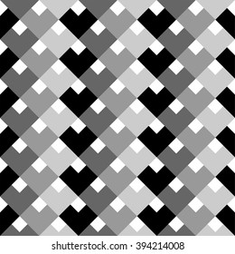 Abstract geometric background, squares pattern in shades of grey