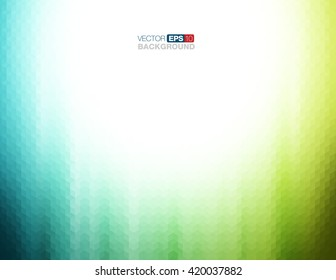 Abstract Geometric Background in Teal and Green