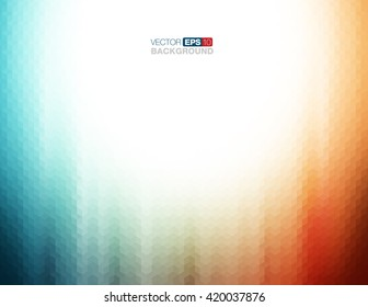 Abstract Geometric Background in Teal and Orange