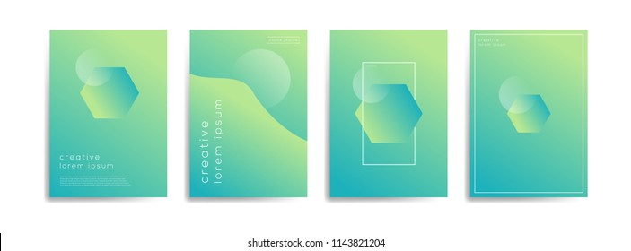 Abstract geometric background template with modern color gradations for poster, flyer, and card. Eps 10