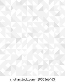 Abstract geometric background. Triangular wallpaper vector design. Minimalist empty triangles pattern halftone monochrome cover. Modern digital graphic background
