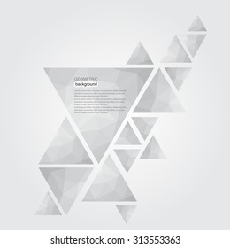 Abstract geometric background.Triangle background.Vector template.