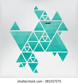 Abstract geometric background.Vector triangle background.