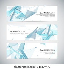 Abstract geometric banner design. Geometric backgrounds.