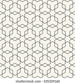 Abstract geometric black and white deco art hexagon pattern