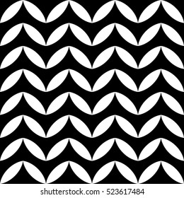 Abstract geometric black and white graphic design deco pattern