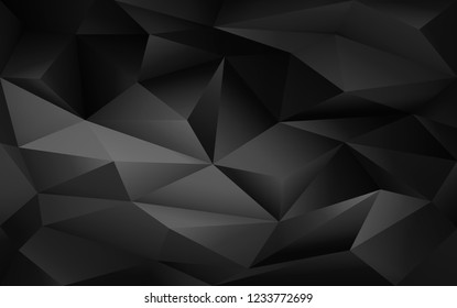 Abstract geometric black and white poligonal background. Vector digital background for business, web, applications. Abstract vector wallpaper.