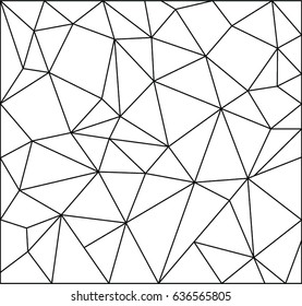 Abstract geometric black and white of vector design
