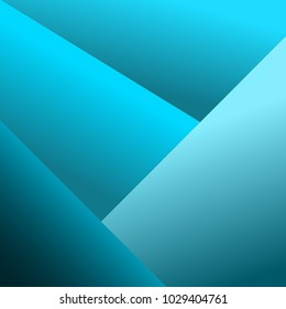 Abstract geometric blue background. Vector illustration