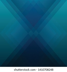 Abstract geometric blue cyan color background, vector illustration