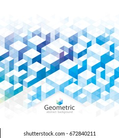 Abstract geometric blue texture urban background.