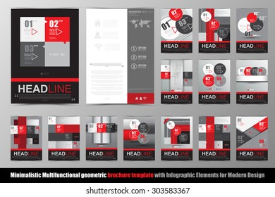 Abstract geometric brochure template. Map. Flyer Layout. Flat Style. Infographic Elements. Vector illustration.  Minimalistic multifunctional media backdrop. Icons.