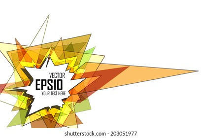 Abstract geometric colorful background Vector EPS