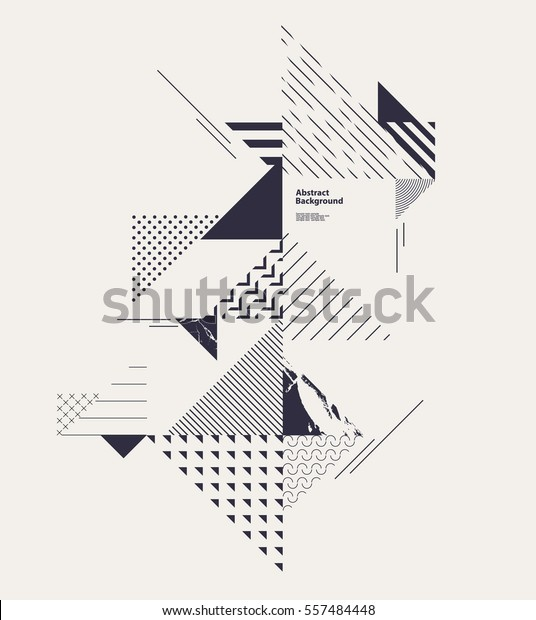Abstract Geometric Composition Decorative Triangles