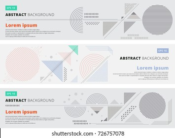 Abstract geometric composition forms modern background with decorative triangles and patterns backdrop vector illustration for print, ad, magazine, banner, website