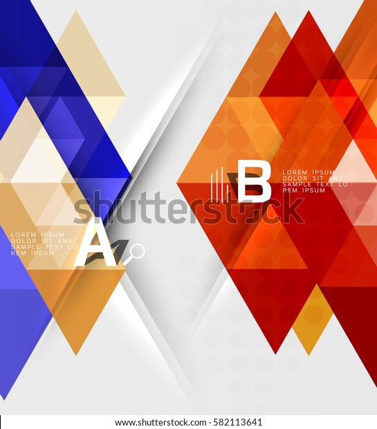 Abstract geometric concept. Modern business brochure or leaflet, flyer and cover template