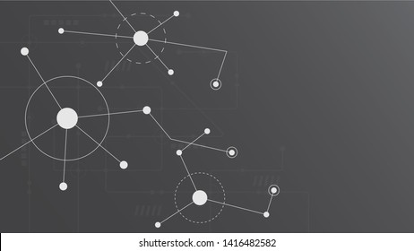 Abstract geometric connect lines and dots.Simple technology graphic background.Illustration Vector design Network and Connection concept.