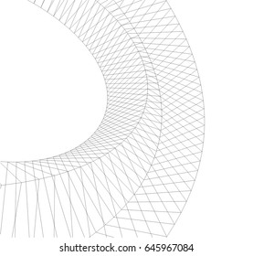 Abstract geometric design. 3d background