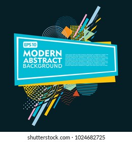 Abstract geometric design background template. Use for modern design, cover docorated, brochure, flayer and card promotion