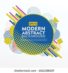 Abstract geometric design background template. Use for modern design, cover decorated, brochure, flayer and card promotion.