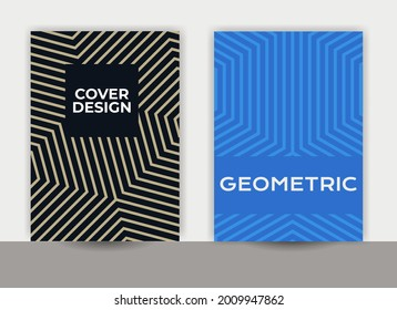 abstract geometric design, notebook cover design, company profile cover, line pattern, minimal cover design