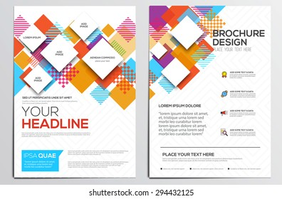 Abstract geometric design template layout for magazine brochure flyer booklet cover annual report in A4 size. Modern Backgrounds, Infographic Concept. Vector Illustration