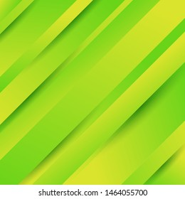 Abstract geometric diagonal green background with gradient colors. Vector illustration