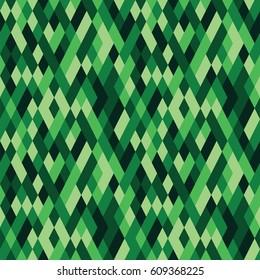 The Abstract geometric diamond pattern green
