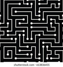 abstract geometric electric circuit cyberpunk pattern background