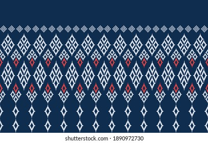 Abstract geometric ethnic patterns. Tribal vector. Traditional Thai style. Design for background, wallpaper, fabric, textile.